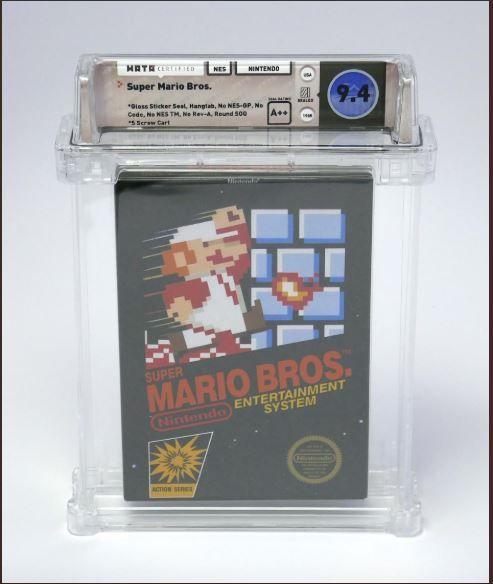 Super Mario Bros, Original copy, USD 100,150, Nintendo,auction,  Heritage Auctions of Dallas