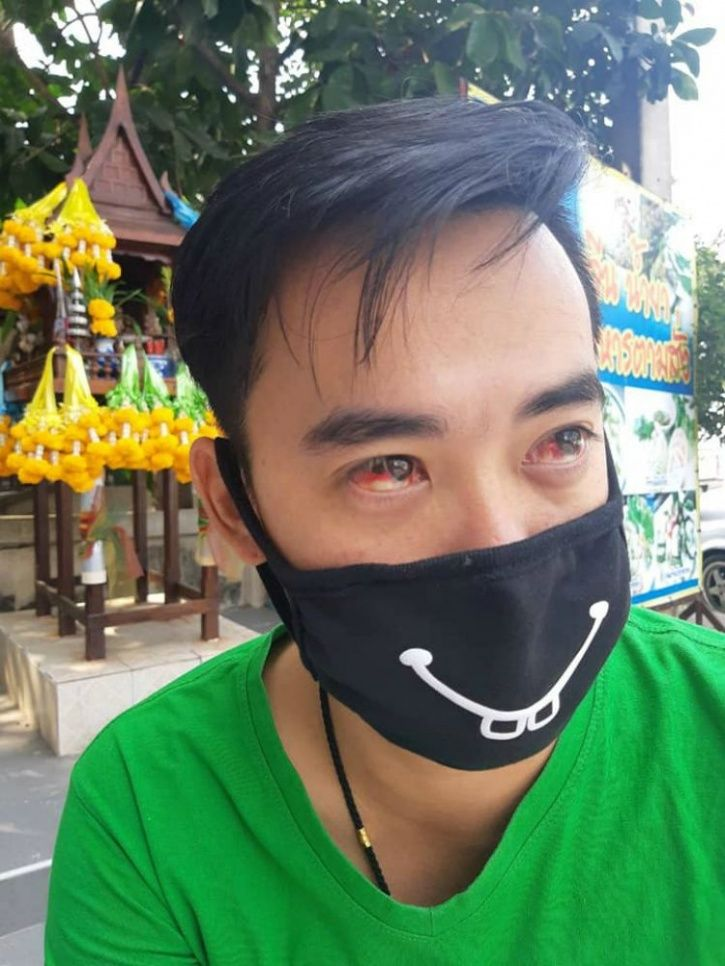 Thailand smog, Thailand air pollution, people bleeding, coughing blood, blood, smog, air pollution