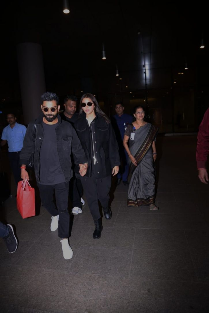 Virat Kohli and Anushka Sharma return to Mumbai post celebrating Valentine