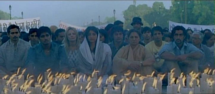 13 years of rang de basanti: candle light protests in the movie.1