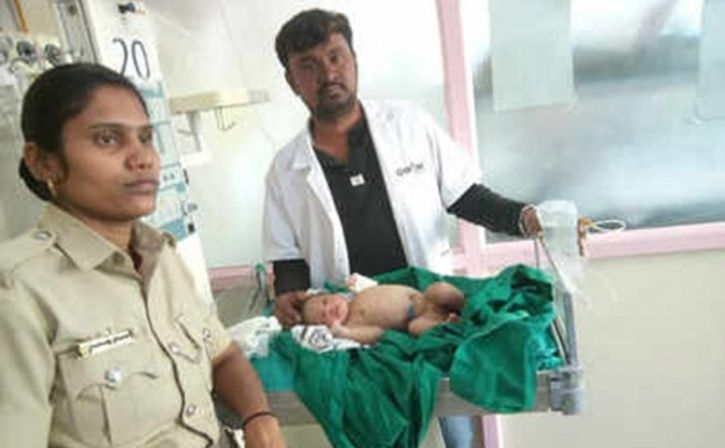 Bengaluru Constable Breastfeeds Infant Found Abandoned