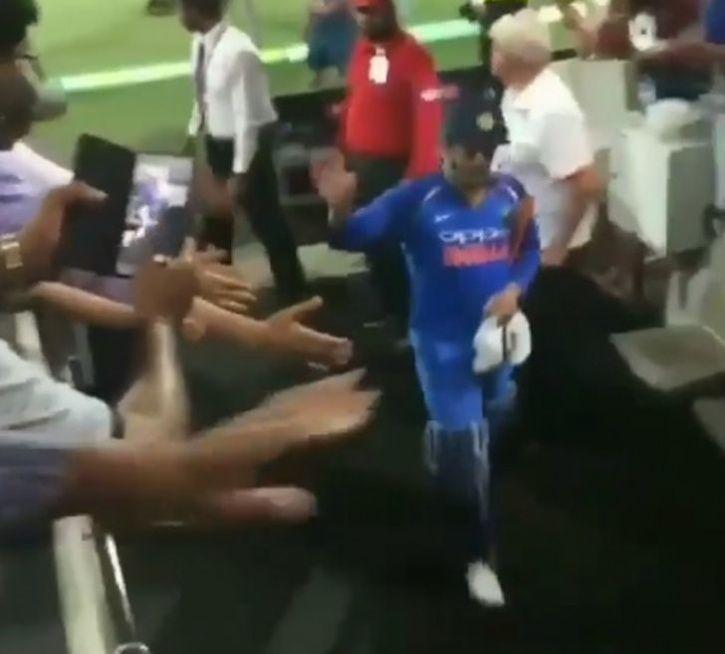 MS Dhoni made 55 not out
