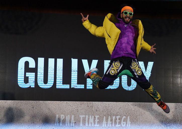 Ranveer Singh at Gully Boy trailer launch.