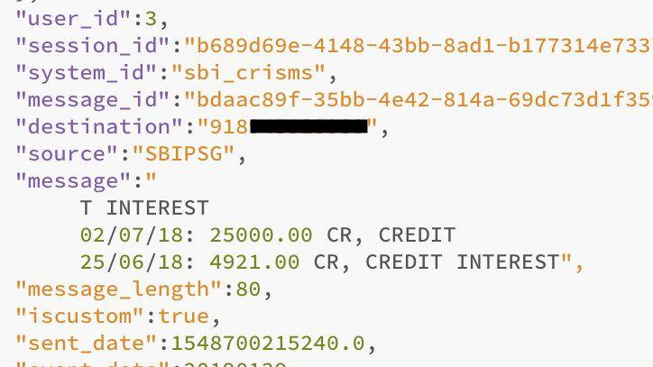 sbi data hack no password protection