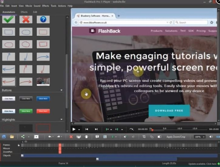 screen recording FlashBack Express