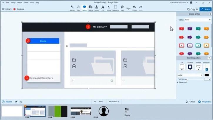 screen recording Snagit