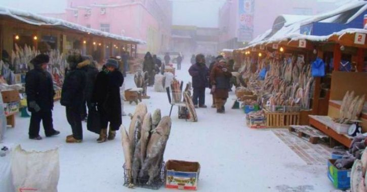 This Siberian City Is Selling Hard As Nails Fishes And Berries At -55 Degree Temperature