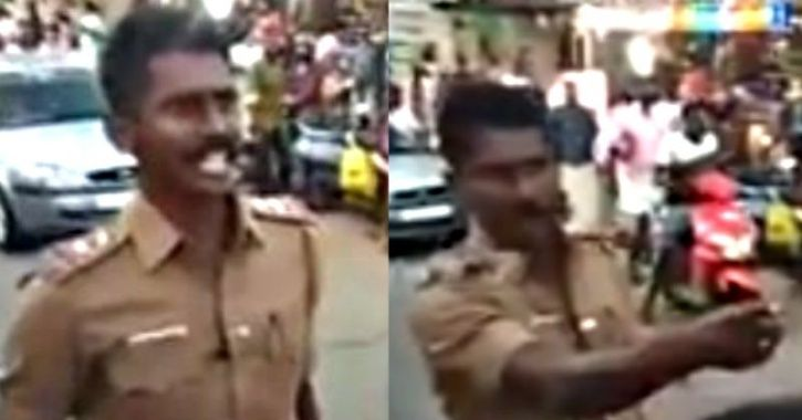 This Tamil Nadu Cop Hailed As 'Hero' For Daring Protesters To Attack Buses During Strike