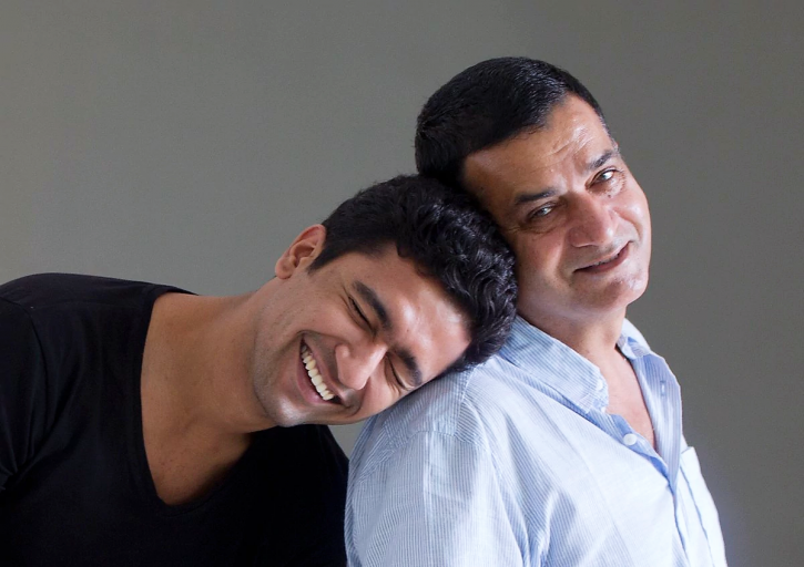 Vicky Kaushal with his father Shyaam Kaushal.