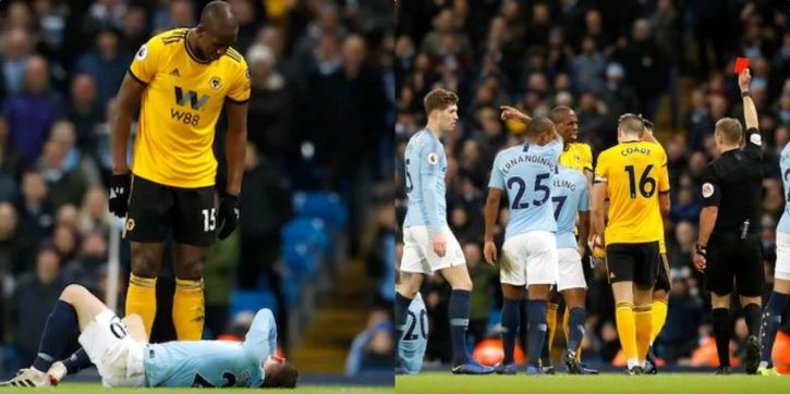 Willy Boly got a red card.