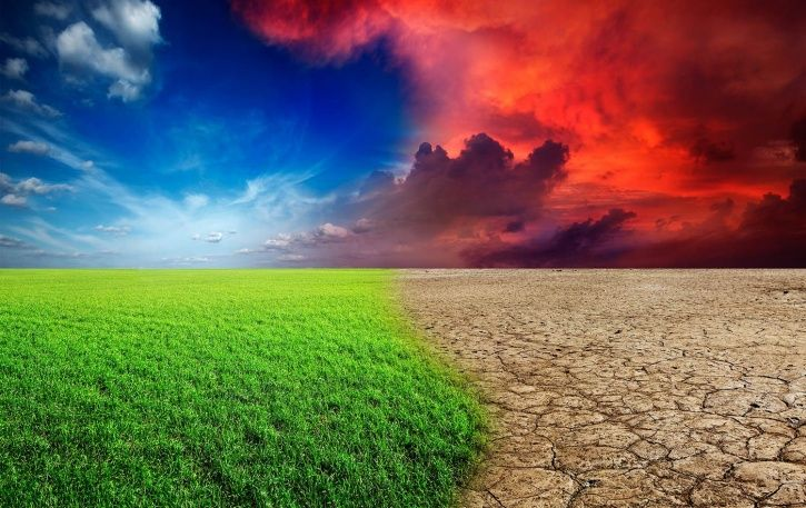 A photo depicting climate change.