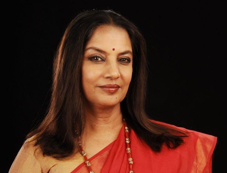 A picture of Bollywood actress Shabana Azmi.