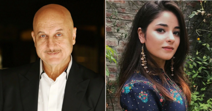 Anupam Kher is happy with Zaira Wasim's decision to quit Bollywood.
