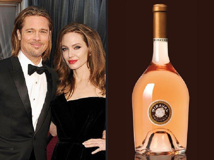 Celebrity alcohol brands: Angelina Jolie and Brad Pitt