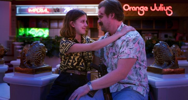 Eleven and Hopper in Stranger Things season 4.