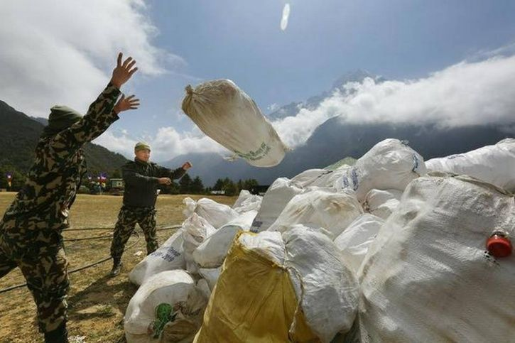 Everest recycles waste