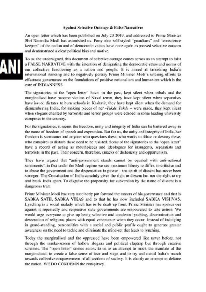 In Another Open Letter, Kangana, 60 Others Question Selective Outrage Post Lynching Letter To PM