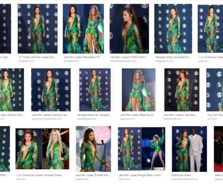 Jennifer Lopez green Versace dress