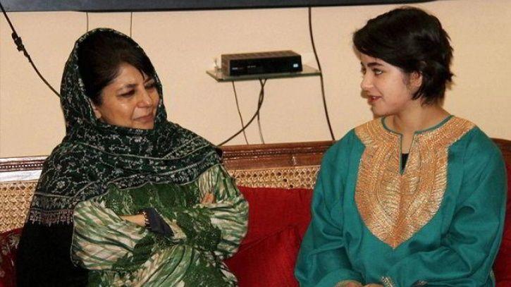 Mahbooba Mufti with Zaira Wasim.