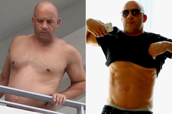 male body shaming: Vin Diesel