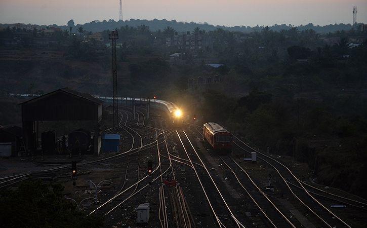 Motormen stopping train