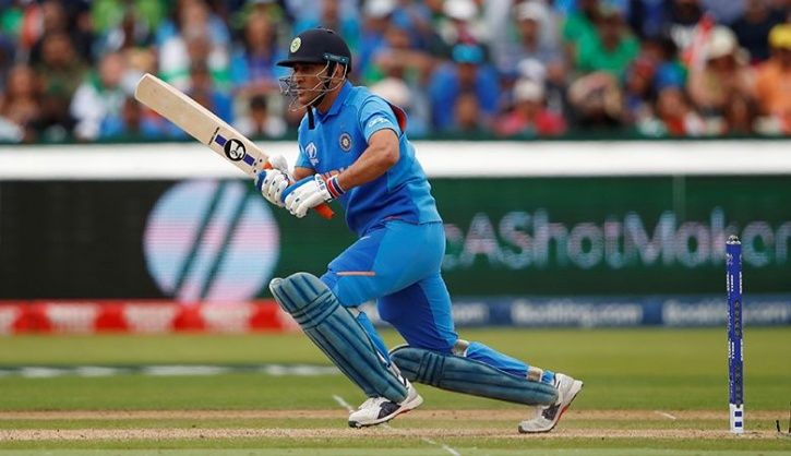 MS Dhoni Is Using Different Bat Logos