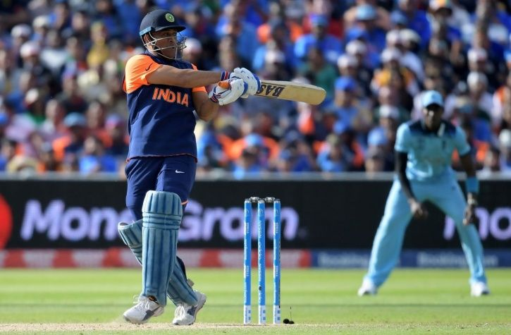 MS Dhoni made 42 not out