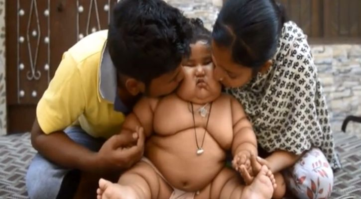 Obese punjabi baby