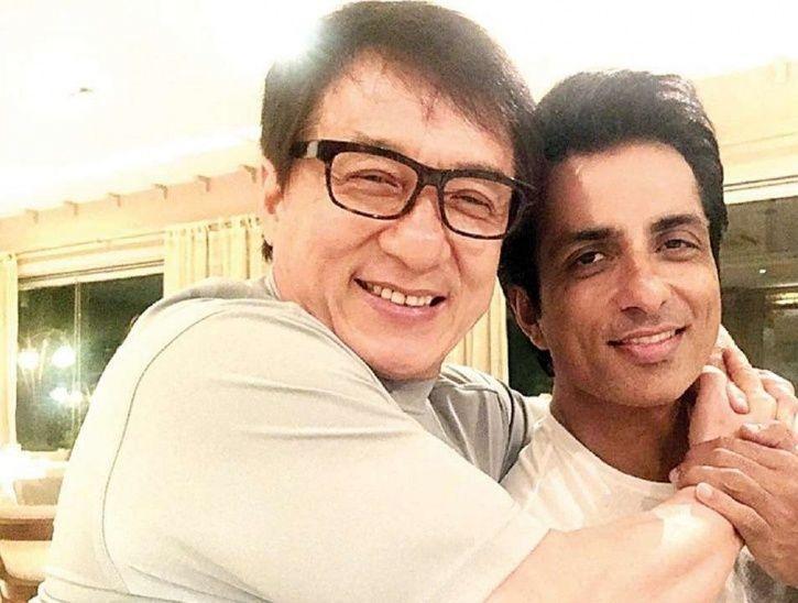 Sonu Sood with Jackie Chan in Kung Ku Yoga 2.
