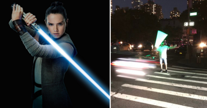 Star Wars Fans Use Lightsabers To Direct Traffic During NYC Blackout