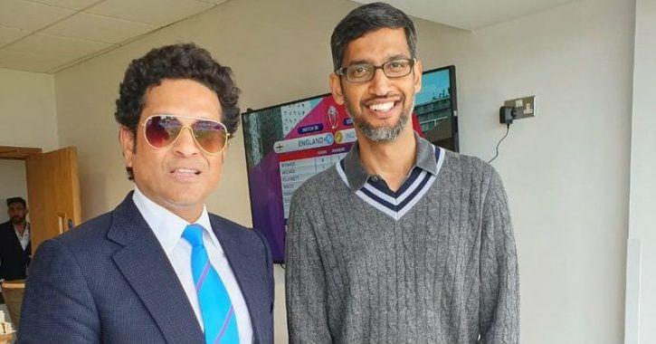 Sundar Pichai Met Sachin Tendulkar At Cricket World Cup