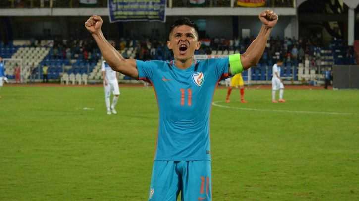 Sunil Chhetri has gone past Lionel Messi