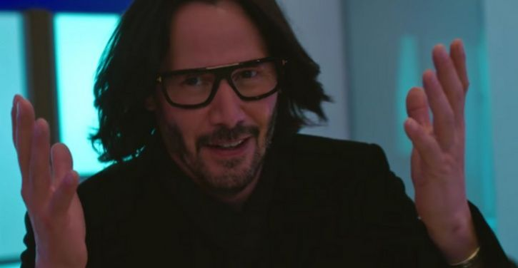 A pic of Keanu Reeves from Always Be My Maybe.