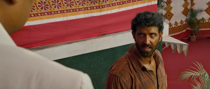A still of Hrithik Roshan from Super 30 trailer.