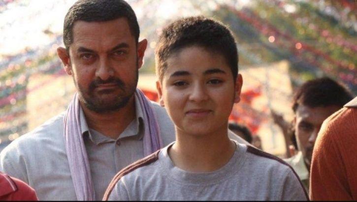 Aamir Khan and Zaira Wasim in Dangal.