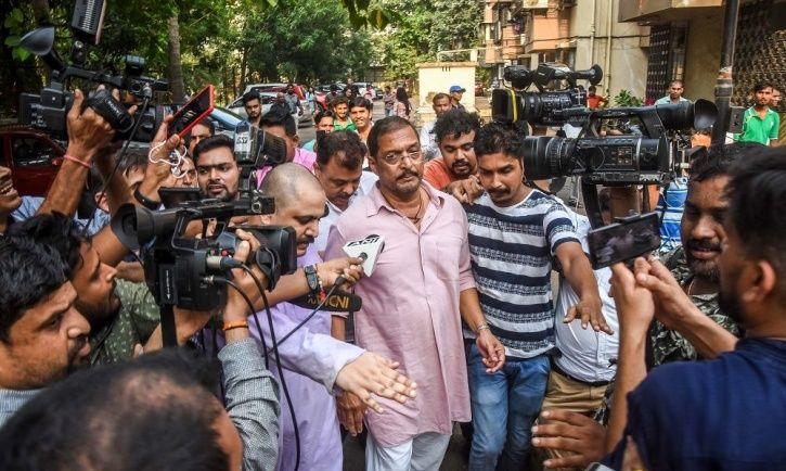 Aftermath of MeToo: A picture of #MeToo accused and Bollywood actor Nana patekar.