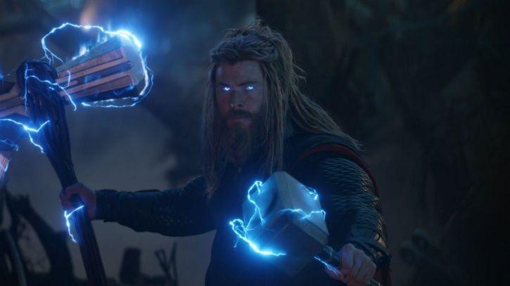 Avengers Endgame still showing Thor AKA Chris Hemsworth.