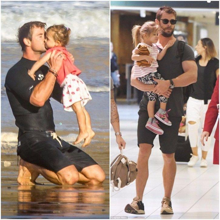 Chris Hemsworth with his kids.