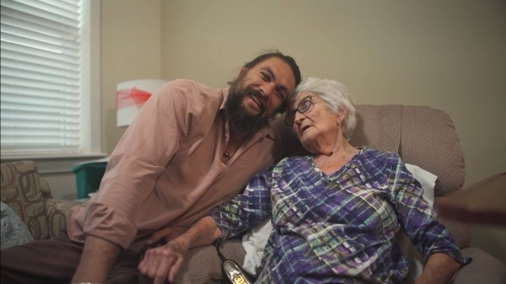 Jason Momoa with his first love grandmother.
