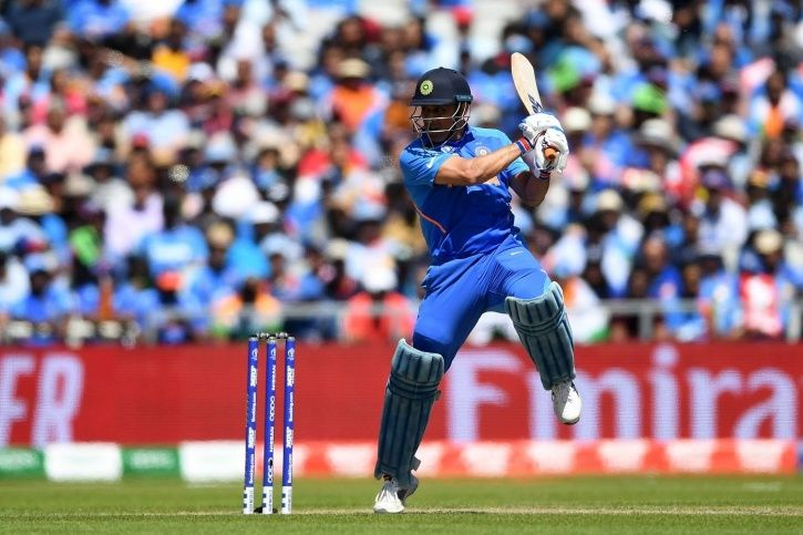 MS Dhoni made 56 not out