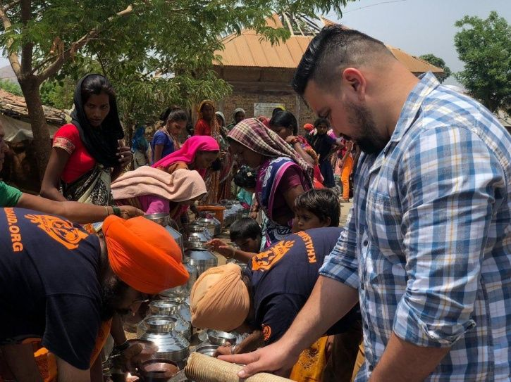 Randeep Hooda joins khalsa aid to provide drinking water to the people drought hit Vele village.