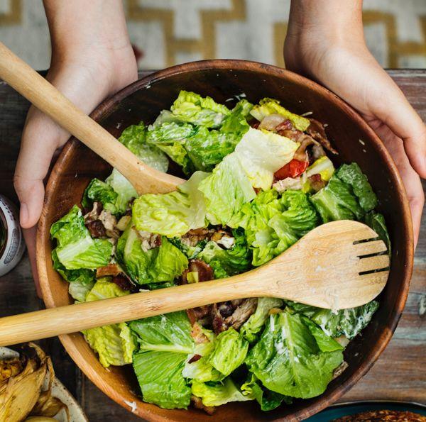 Salad, first cook