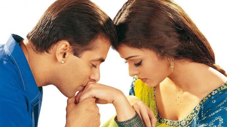 Salman Khan kissing Aishwarya Rai