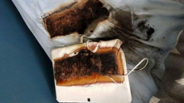 samsung tablet fire, samsung fire, tablet fire, samsung, staffordshire, uk samsung tablet explosion