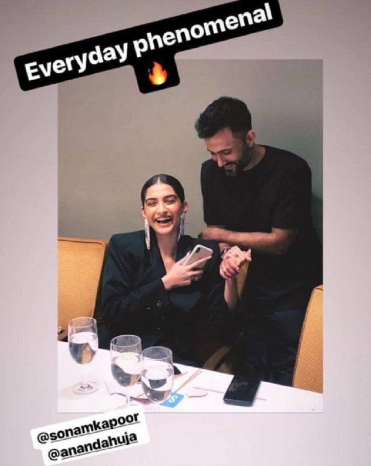 Sonam Kapoor rang in her 34th birthday with hubby Anand Ahuja.