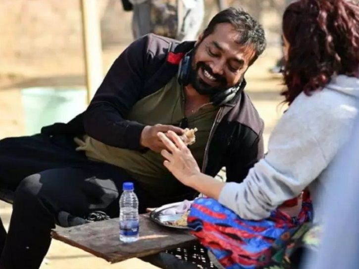 Taapsee Pannu and Anurag Kashyap having fun on the sets of Manmarziyaan.