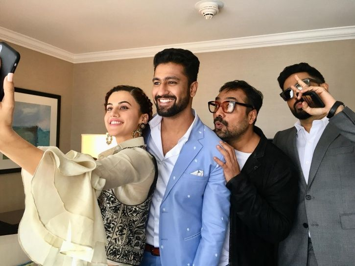 Taapsee Pannu and Anurag Kashyap with the cast of Manmarziyaan,