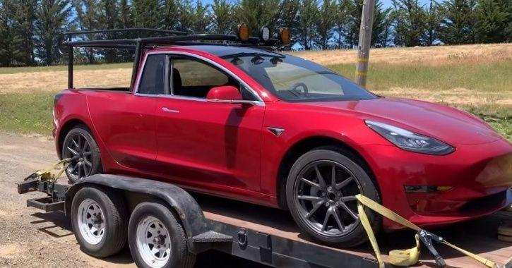 Tesla Pickup Truck, Truckla, Simone Giertz, YouTube Tesla Modification, Tesla Truck, DIY Tesla Truck