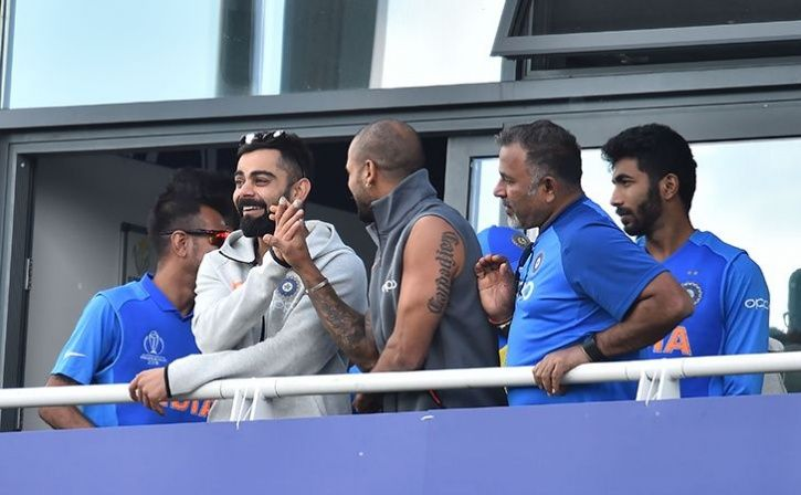 Virat Kohli Team India Blowing Off Steam Ahead Of Their World Cup Opener By Playing A Game Of Pai