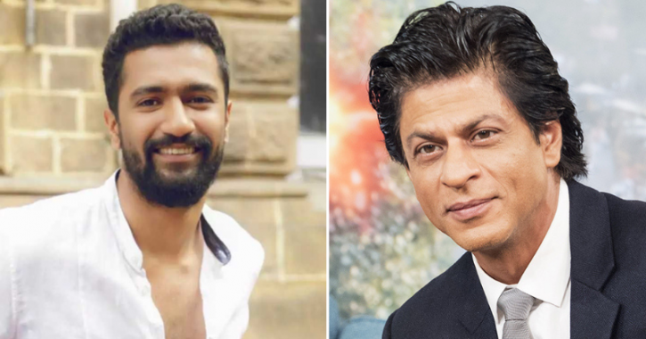 A collage of Vicky Kaushal and Shah Rukh Khan.
